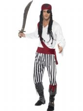 Pirate Man Striped Costume